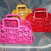 Корзина корзиночка кошичок пластик для игрушек посудки пасочек для дома улицы двора на море