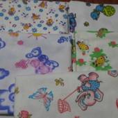Детские пеленки,Пеленки байковые.0.90 см на 0.90 см