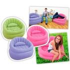 Надувное кресло с мягким покрытием+подушка 91х102х65см Интекс! 3 цвета