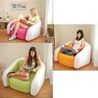 Надувное кресло с мягким покрытием 91х102х65 см Интекс! 3 цвета!