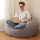 Надувное кресло-мешок с мягким покрытием Интекс 107х104х69см!ХИТ!