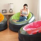 Надувное кресло с мягким велюровым покрытием Интекс 112х109см!3 цвета!