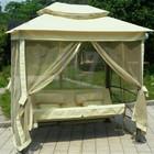 Качель-кровать садовая 3-х местная Голливуд + маскитная сетка
