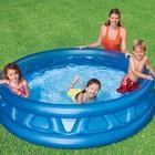 Детский надувной бассейн 58431 конус 188-46см 666 литров ремкомплект в подарок