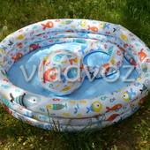 Детский надувной бассейн Intex 59469 + мяч и круг подарок ремкомплект