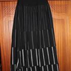 Длинная юбка на широкой резинке-кокетке