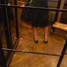 Гипюровая, кружевная черная длинная миди юбка - стильная, ультрамодная и красивая
