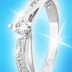 Красивое серебряное кольцо 925 пробы, покрытое родием с фианитом.