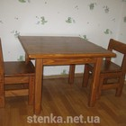 Столик и стульчик из массива натурального дерева, под цвет мебели
