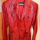 Кожаная красная куртка ТОРГ!