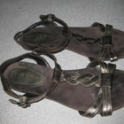 летние кожаные босоножки сандали, стелька=26 см