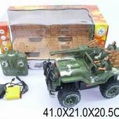 """Радиоуправляемая машина """"Джип военный с солдатами"""" 1:16, аккум., звук, свет 3007"""