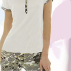 Пижама женская (футболка+бриджи) Andra. Размер S