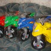 Мотоцикл беговел детский пластик на 2 колеса Орион 501 жёлтый
