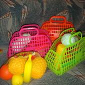 Овощи фрукты твёрдый пластик для самых маленьких кукуруза морковь баклажан капуста ананас лимон ябло