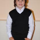 Стильный модный тёплый шерстяной жилет на мальчика на 6 лет 10 лет