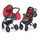 Универсальная коляска Adamex Jogger, серый с красным (Огромный выбор расцветок)