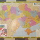 Карта Украины. Политико административная