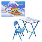 Столик-парта и стульчик - раскладной детский Спанч Боб