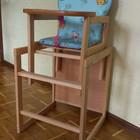 стол стул для кормления с высокой спинкой дерево