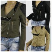 Супер стильная женская весенняя куртка косуха ,парка женская