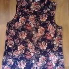 шифоновая блузка в цветы