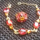 Шикарный набор Ungaro (кольцо браслет)  Позолоченное.