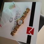 ЦЕНА СНИЖЕНА Швейцарские женские наручные часы Everswiss  мнталлический браслет золотой