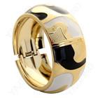 Нарядный браслет черно-бело-золотой