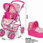 Детская Коляска для куклы Baby Tilly  2в1 розовая