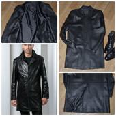 Продуманный до мелочей,  мужской кожаный кардиган  Shengyi (Турция)