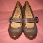 Кожаные фирменные туфли Janet D. - (7) 40 размер