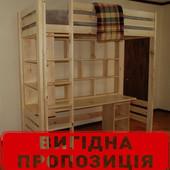 Кровать чердак для детской  дерево