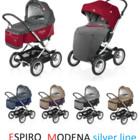 Универсальная коляска 2 в 1 Espiro Modena Silver Line розница-опт