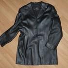 Отличный качественный кожаный пиджак, р.48