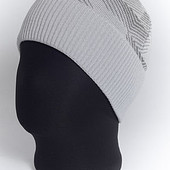 Мужская вязаная шапка с отворотом Ромб -