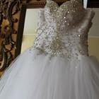 Свадебное платье корсет в камнях р.42-46