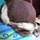 шапка ушанка шерстяная 56р мех искусственный