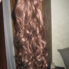 Волосы на заколках искуственные( каштановые)