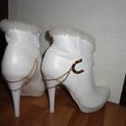 Свадебные зимние ботинки