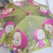 Зонтик зонт детский деткам от годика Рразные Маша и Медведь