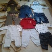 Пакет одежды для мальчика 0-12мес(шорты,штаны,кофты,футболки,регланы)