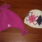 теплые шапки на девочку 3-5лет