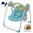 Кресло-качалка, колыбель для детей с рождения, на батарейках или от сети