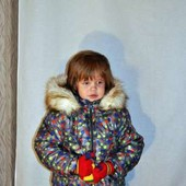 Зимние комбинезоны для девочек и мальчиков на подстежке-овчине. рост 92-110см