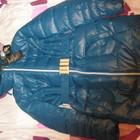 Новый зимний женский пуховик на холофайбере бирюзового цвета.