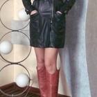 Кожаное демисезонное пальто MaxMara