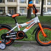 Детский двухколесный велосипед Azimut Fiber для мальчиков и девочек