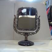 зеркало косметическое на ножке!двухстороннее!с увеличением пластик! в наличии! новое!