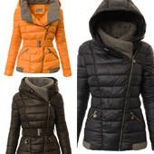 Теплая зимняя женская куртка косуха